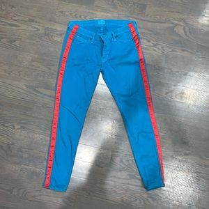 Hudson blue and red side stripe skinny jeans